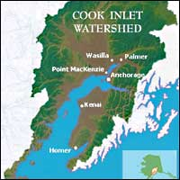 Thumbnail to Cook Inlet Watershed map